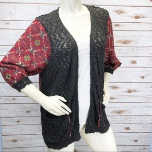 NWT BKE Boutique Flyaway Crochet Cardi Sz M ::HH7
